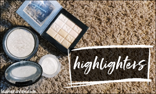 LeahERaven.com | September 2018 Makeup Basket : Highlighters