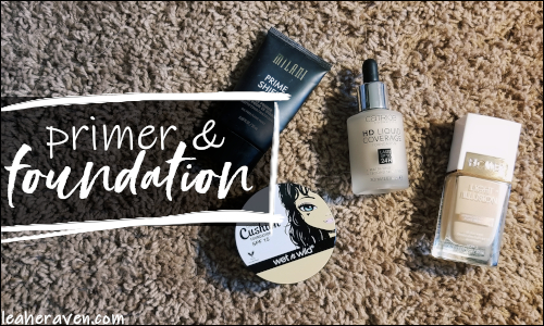 LeahERaven.com | September 2018 Makeup Basket: Primer & Foundation