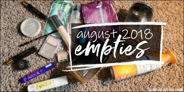 LeahERaven.com | August 2018 Empties