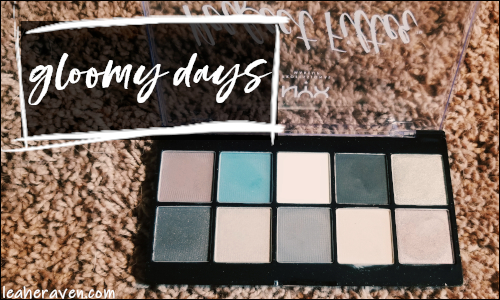 LeahERaven.com | Makeup Inventory Part 5: Eyeshadow Palettes - NYX Professional Makeup Perfect Filter in Gloomy Days