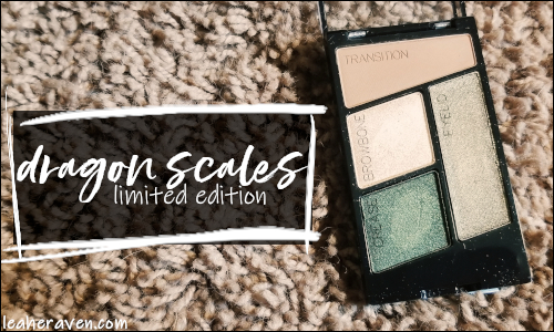 LeahERaven.com | Makeup Inventory Part 5: Eyeshadow Palettes - Wet N Wild ColorIcon Eyeshadow Quad in Dragon Scales (Limited Edition)