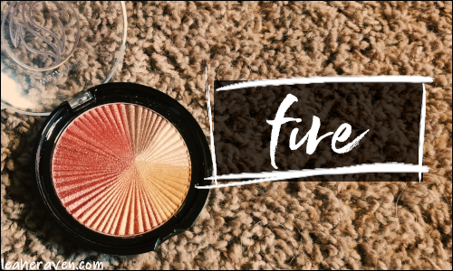 LeahERaven.com | Makeup Inventory Part 5: Eyeshadow Palettes - Wet N Wild ColorIcon Eyeshadow in Fire (Limited Edition)