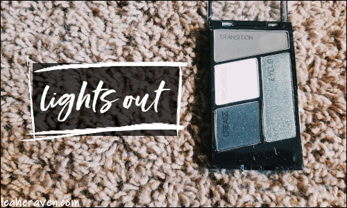 LeahERaven.com | Makeup Inventory Part 5: Eyeshadow Palettes - Wet N Wild ColorIcon Eyeshadow Quad in Lights Out