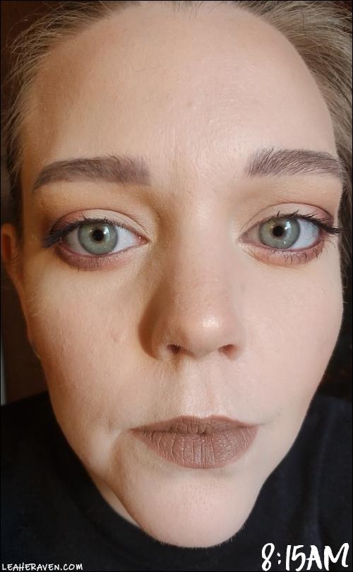 LeahERaven.com   Review: FLOWER Beauty Light Illusion Liquid Foundation - 8:15am Initial Application