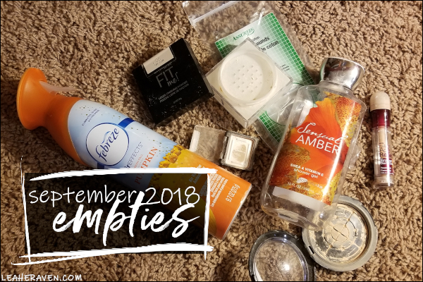LeahERaven.com | September 2018 Empties