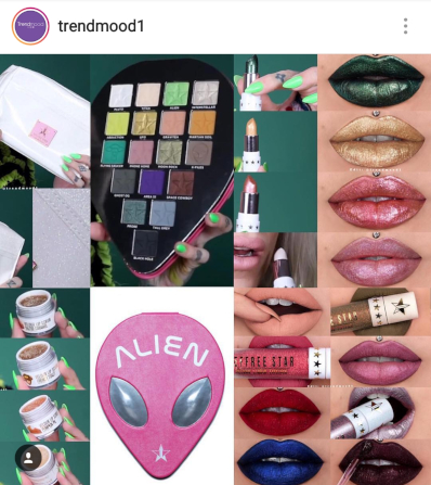 Picture Credit To TRENDMOOD1 of INSTAGRAM | Jeffree Star ALIEN Collection