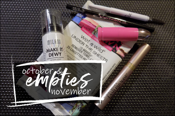 LeahERaven.com | October & November 2018 Empties
