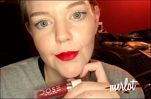 LeahEiden.com   Dose of Colors Matte Liquid Lipstick in MERLOT