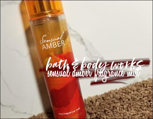 LeahEiden.com   Bath & Body Works Sensual Amber Fine Fragrance Mist