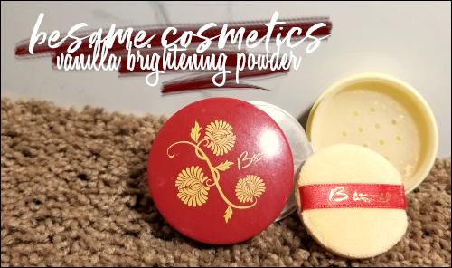 LeahEiden.com   Besame Cosmetics Vanilla Brightening Powder