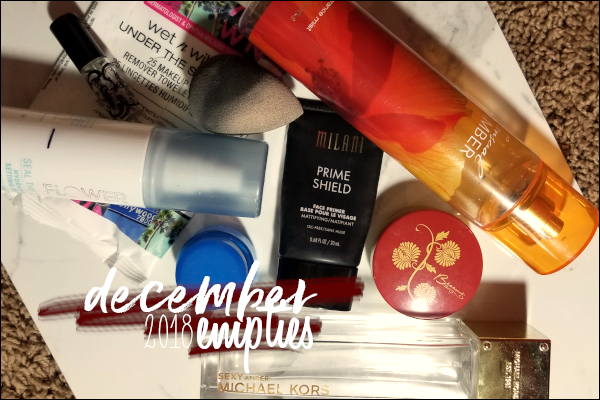 LeahEiden.com | December 2018 Empties